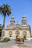De Metropolitaanse Kathedraal van Santiago, Spaanse peper royalty-vrije stock afbeeldingen