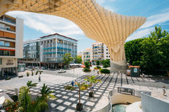 De Metropolparasol is houten structuur gevestigd Plaza DE La Encar Royalty-vrije Stock Foto
