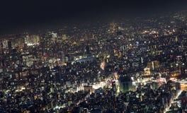 De Metropool van Tokyo, Nacht Stock Foto's