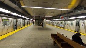 De metropost van New York in Hudson Yards stock videobeelden
