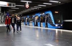 De metropost van Stockholm Stock Afbeelding