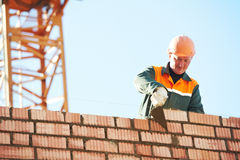 De metselaar van de de metselaararbeider van de bouw Royalty-vrije Stock Afbeeldingen