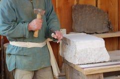 De metselaar van de steen Stock Foto's