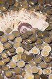De Mexicaanse achtergrond van peso'sbankbiljetten Royalty-vrije Stock Afbeelding
