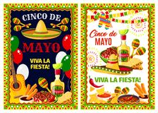 De Mexicaanse Cinco de Mayo-banner van de vakantiegroet