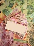 De Mexicaanse munt van de Peso neemt nota van bankbiljetten Stock Afbeeldingen
