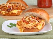 De Mexicaanse Sandwich van de Kip van de Stijl stock afbeeldingen