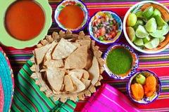 De Mexicaanse sauces pico DE Gallo saus van de habaneroSpaanse peper stock fotografie