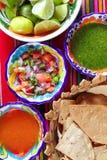 De Mexicaanse sauces pico DE Gallo saus van de habaneroSpaanse peper Stock Foto