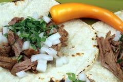 De Mexicaanse taco's van het fiestavlees Stock Afbeeldingen