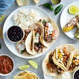 De Mexicaanse verscheidenheid van het straatvoedsel stock afbeelding
