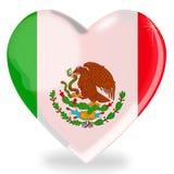 De Mexicaanse vorm van het vlaghart Stock Afbeelding