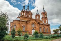 De Michael Archangel-kerk in Mordovo, het gebied van Tambov royalty-vrije stock foto