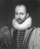 de michel montaigne 库存图片