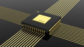 De microchip cpu van de computer Stock Afbeelding