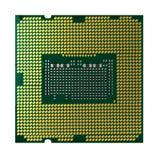 De microchip van cpu of van het CPU en het knippen weg Stock Foto's