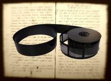 De microfilm van het boek Stock Foto's