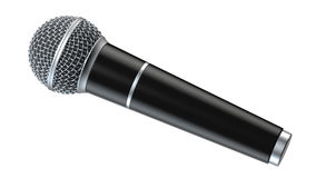 De microfoon op witte 3D die achtergrond wordt geïsoleerd geeft terug royalty-vrije illustratie