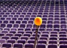 De microfoon van de repetitie op stadium Royalty-vrije Stock Afbeeldingen