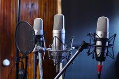 De microfoon van de studio Royalty-vrije Stock Afbeelding