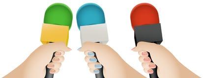 De Microfoon van het gesprek stock illustratie