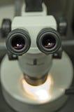De microscoop van de plaat Stock Afbeeldingen