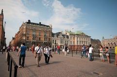 De middag van de zomer in Stockholm, Zweden Royalty-vrije Stock Afbeeldingen