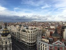 De middag van Madrid met vrienden Royalty-vrije Stock Afbeeldingen