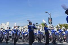 De Middelbare school van luchtacadmey het Marcheren de Band toont van buitengewone Tournam Royalty-vrije Stock Fotografie