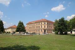 De Middelbare school van twee Nobelprijslaureaten stock afbeelding