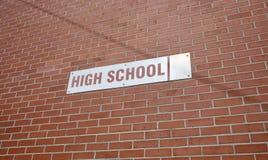 De middelbare schoolbouw royalty-vrije stock afbeeldingen