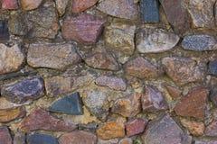 De middeleeuwse Achtergrond van de Muur van de Steen Stock Afbeeldingen
