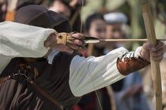 De middeleeuwse boog Royalty-vrije Stock Foto's