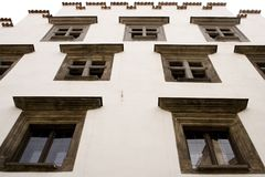 De middeleeuwse bouw Stock Foto