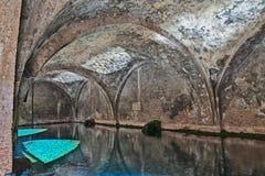 De middeleeuwse fontein Fontebranda in Siena Stock Fotografie