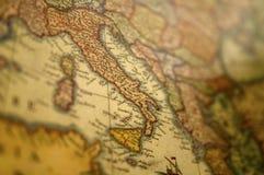 De middeleeuwse Kaart van Europa - Italië royalty-vrije stock foto's