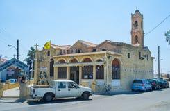 De middeleeuwse kerk Stock Foto's
