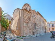 De middeleeuwse kerk royalty-vrije stock afbeelding