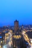 De middeleeuwse kerk van Gent, België Stock Afbeeldingen