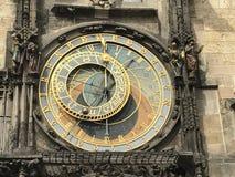 De Middeleeuwse Klok van Praag Stock Fotografie