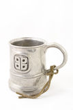 De middeleeuwse mok van het tin Royalty-vrije Stock Foto's