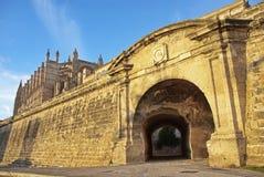 De middeleeuwse Muur van de Stad stock afbeeldingen