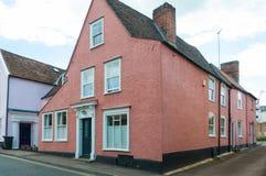 De middeleeuwse plattelandshuisjes van Suffolk in Bury St Edmunds Royalty-vrije Stock Foto