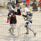 De middeleeuwse Ridders vechten Royalty-vrije Stock Afbeelding
