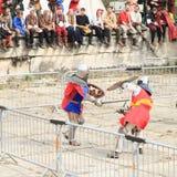 De middeleeuwse Ridders vechten Stock Foto