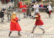 De middeleeuwse Ridders vechten Royalty-vrije Stock Foto