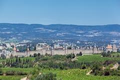 De Middeleeuwse Stad Frankrijk van Carcassonne Stock Foto's
