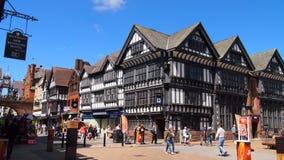 De middeleeuwse stad van Chester in Engeland royalty-vrije stock afbeelding