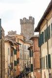 De middeleeuwse stad van Montalcino royalty-vrije stock foto's