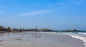 De middeleeuwse stad van Saint Malo in Bretagne, Frankrijk royalty-vrije stock afbeelding